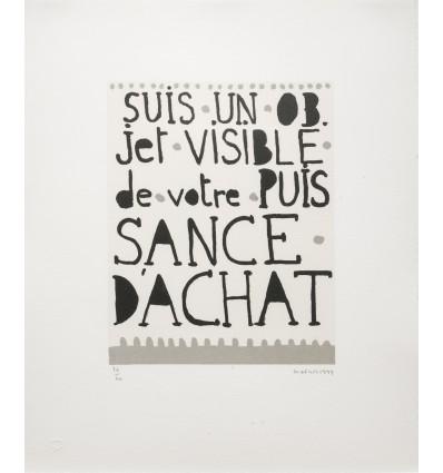 Jean-Michel Alberola - Suis-je un objet visible de votre puissance d'Achat