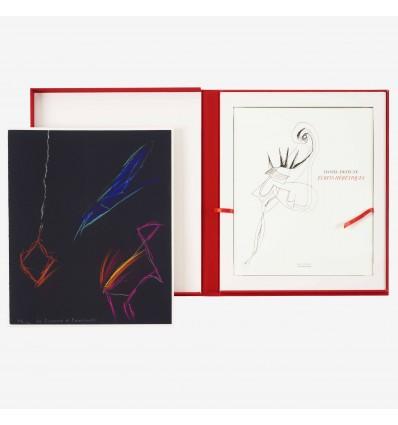Limited edition - Daniel Dezeuze - Écrits hérétiques - with an original drawing