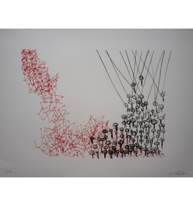 Chiharu Shiota - Keys Hanging in the Red - Lithograph
