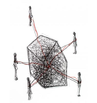Chiharu Shiota - Follow the Line - Lithograph